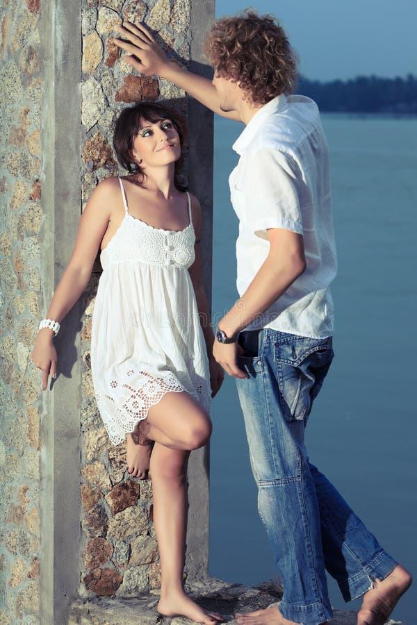 flirting стоковое фото