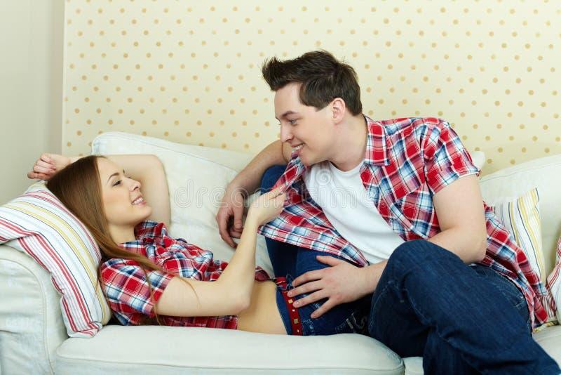 flirting stock foto's