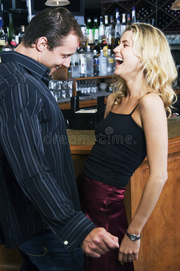 Download Flirting stock image. Image of blonds, appetisers, girl - 719689