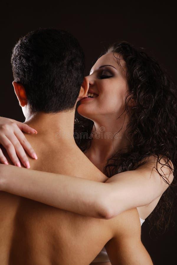 Flirting Young Couple Stock Image