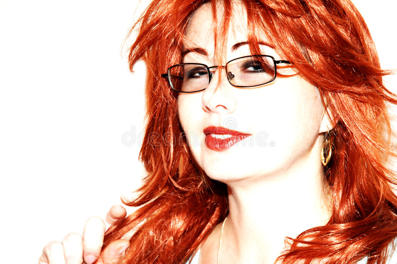 flirtowanie złotowłosy czerwonej kobiety zdjęcia royalty free