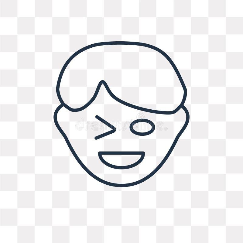 Flirtuje wektorową ikonę odizolowywającą na przejrzystym tle, liniowy Fli royalty ilustracja
