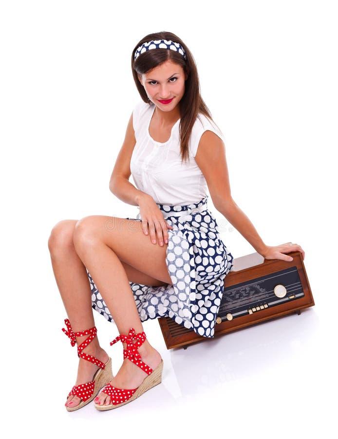 Flirty ретро женщина стоковые изображения