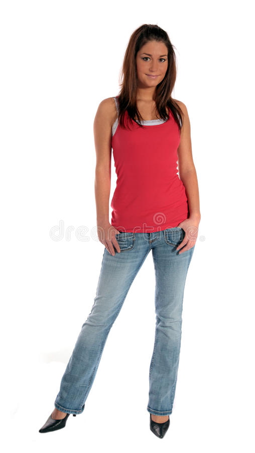 Flirty young woman stock images