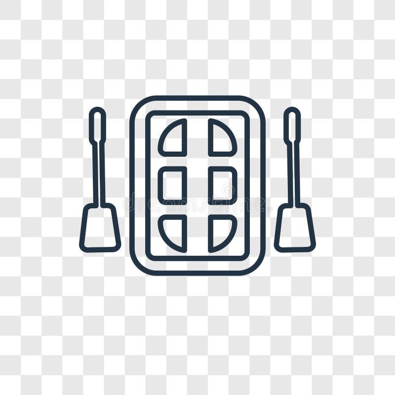Flisactwa pojęcia wektorowa liniowa ikona odizolowywająca na przejrzystym backg ilustracji