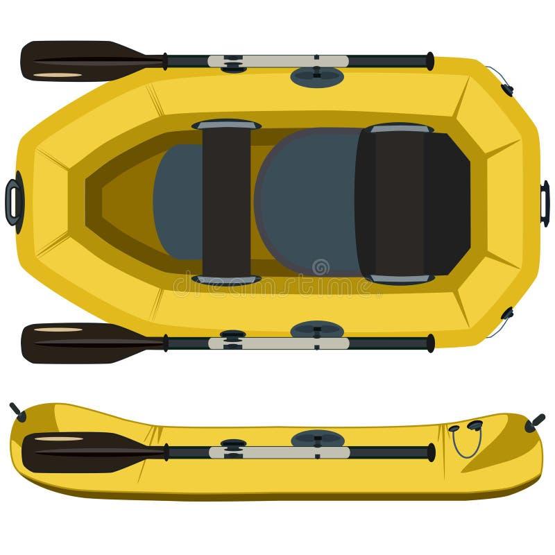 Flisactwo łódkowata wektorowa płaska ilustracja royalty ilustracja