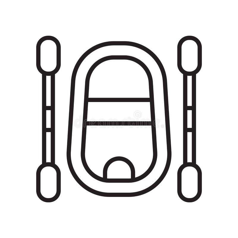 Flisactwo ikony wektoru znak i symbol odizolowywający na białym tle, flisactwo logo pojęcie royalty ilustracja