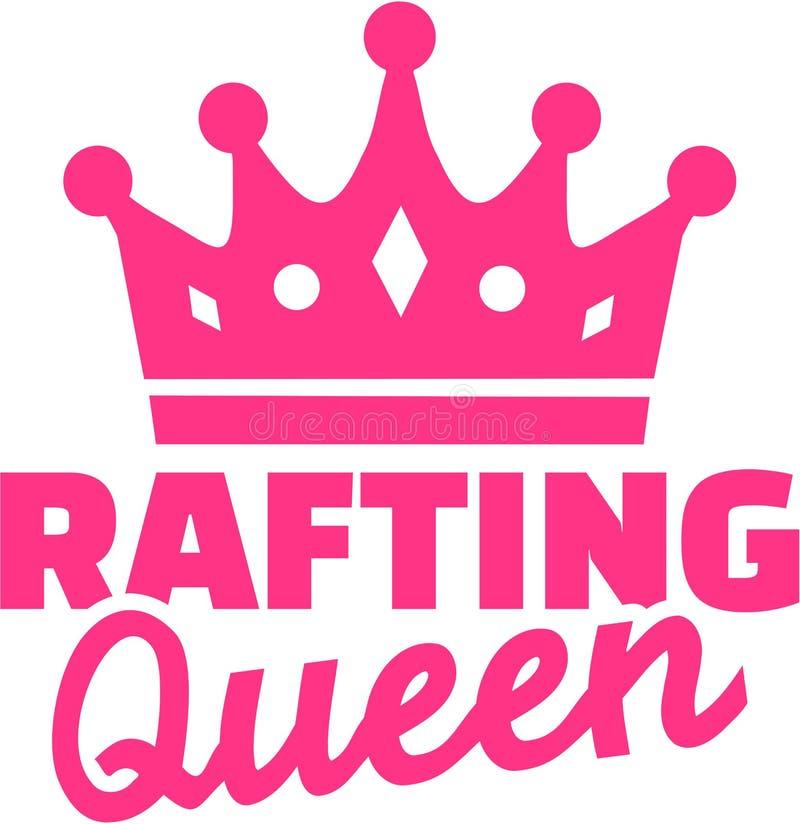 Flisactwo królowa z koroną ilustracji