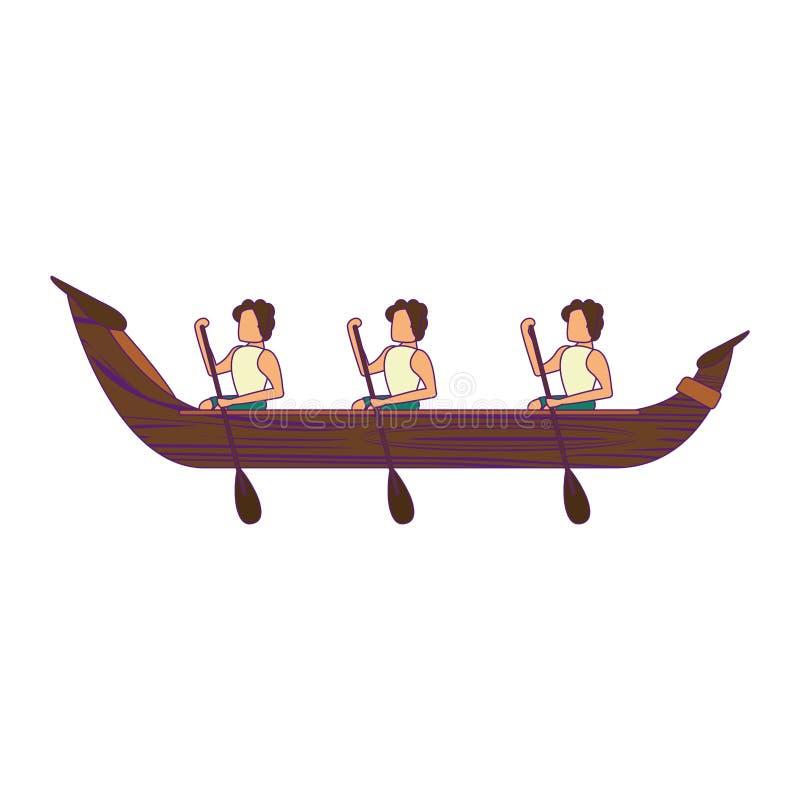 Flisactwo w barki ikony kreskówce ilustracji