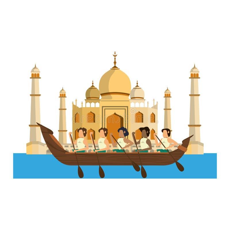 Flisactwo w barki ikony kreskówce royalty ilustracja