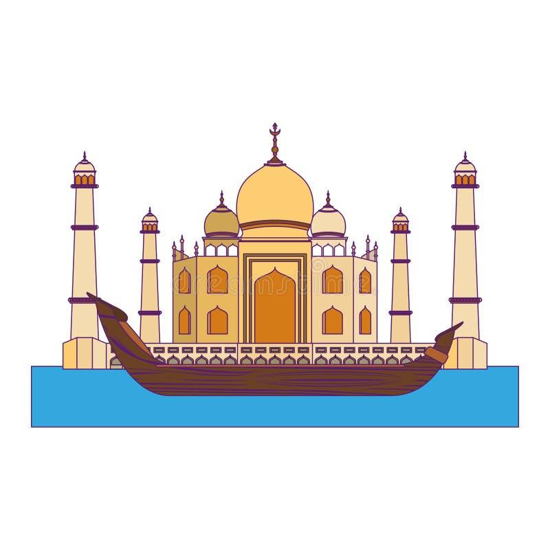 Flisactwo w barki ikony kreskówce ilustracja wektor