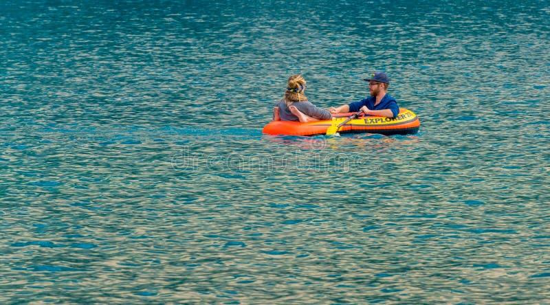 Flisacy na Morena jeziorze obraz royalty free