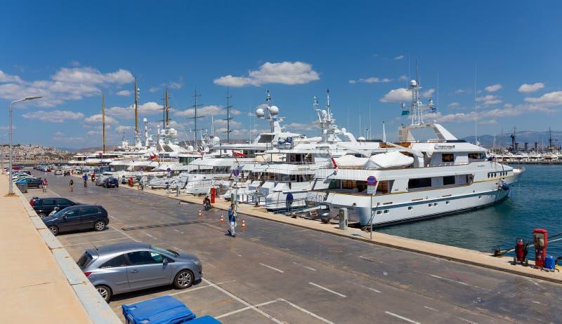 Flisvos-Jachthafen, Paleo Faliro, Griechenland lizenzfreies stockfoto