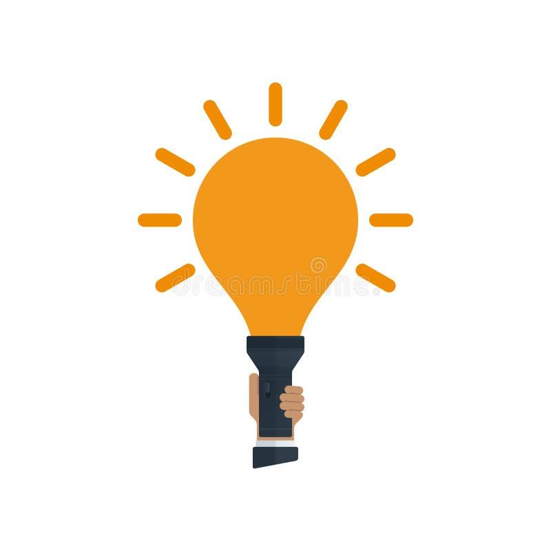 Flitslicht met bol gestalte gegeven licht royalty-vrije illustratie