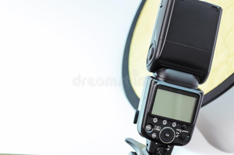 Flitslicht, toebehoren voor het schieten van foto's stock foto's