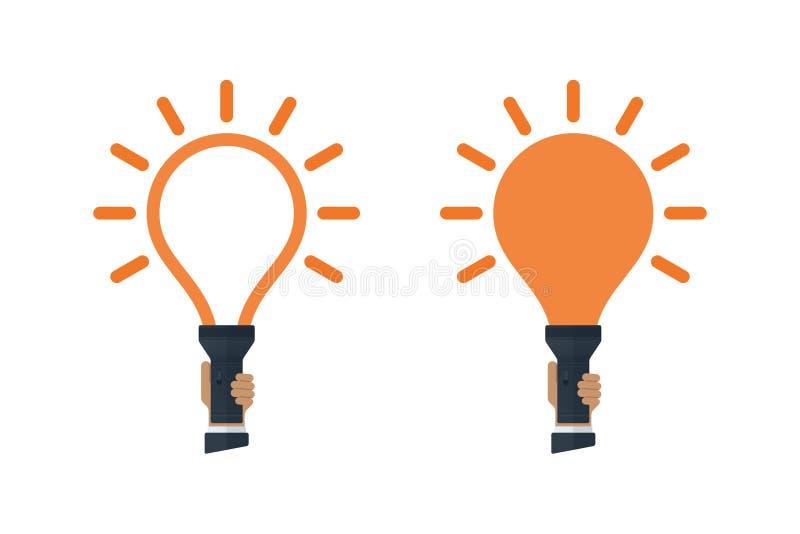 Flitslichten met bol gestalte gegeven licht vector illustratie