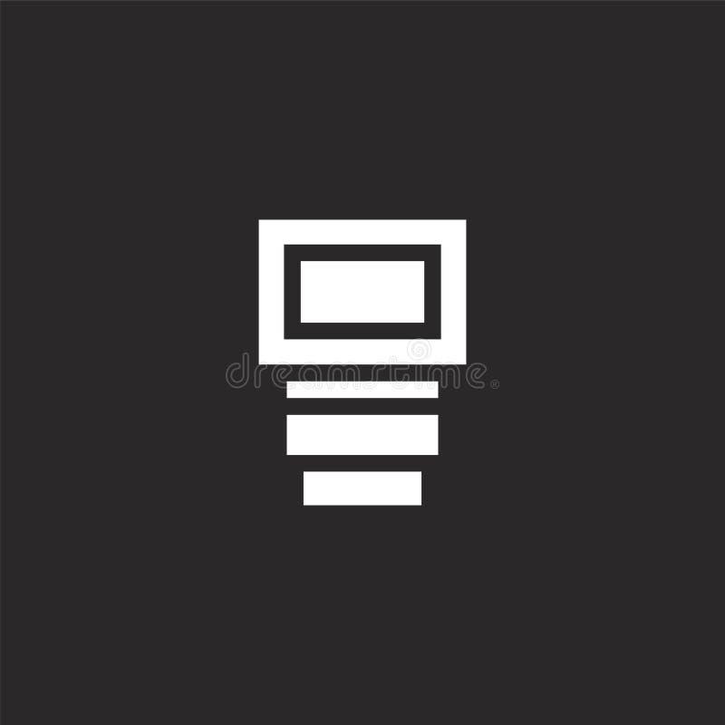 Flitspictogram Gevuld flitspictogram voor websiteontwerp en mobiel, app ontwikkeling flitspictogram van gevulde fotografieinzamel vector illustratie