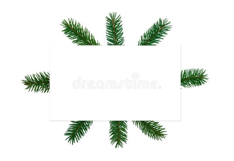 Flitter in einem blauen Glas Papierfreier raum, Weihnachtsbaumaste, gol stockbild