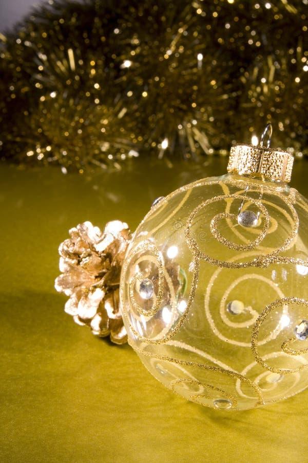 Flitter für Weihnachtsbaumdekorationen stockfotos