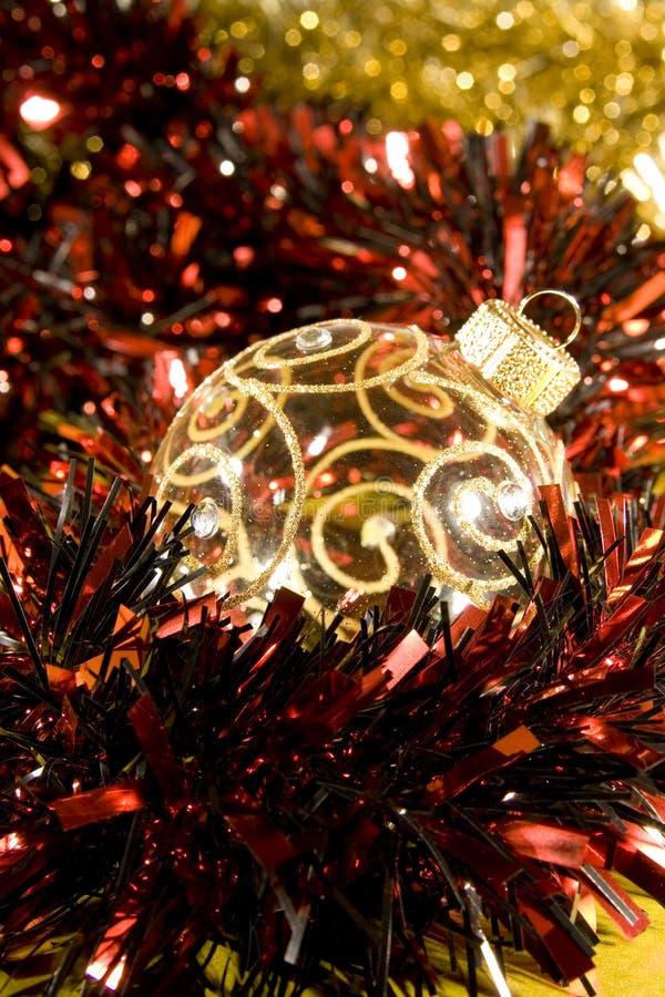 Flitter für Weihnachtsbaumdekorationen lizenzfreies stockbild