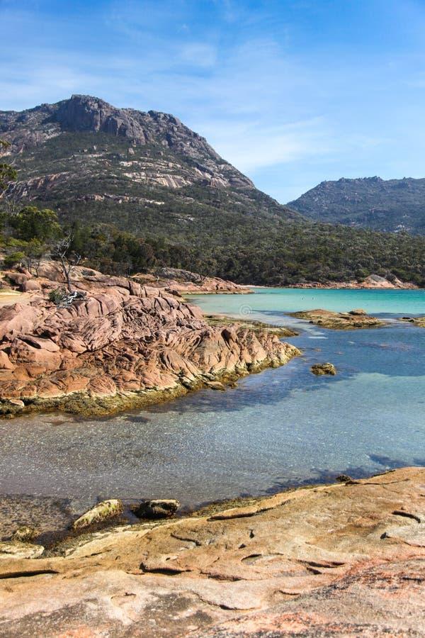 Flitterwochen-Bucht - Coles-Bucht Tasmamia stockfoto