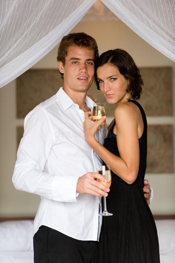 Flitterwochen-Paare lizenzfreies stockfoto