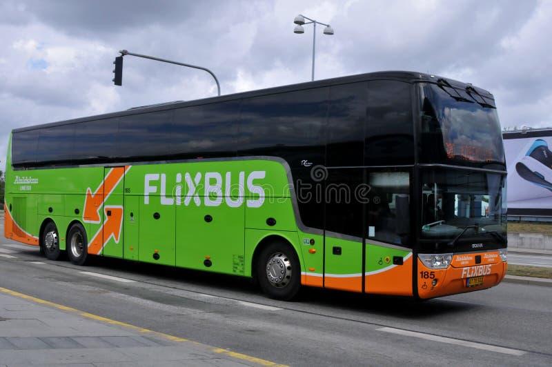FLIXBUS IN KOPENHAGEN DÄNEMARK lizenzfreies stockbild