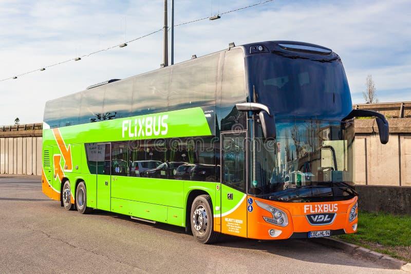 Modern Flixbus Coach Leaves The Chemnitz Bus Station Towards Karlsruhe Editorial Photography Image Of European Departure 144810927