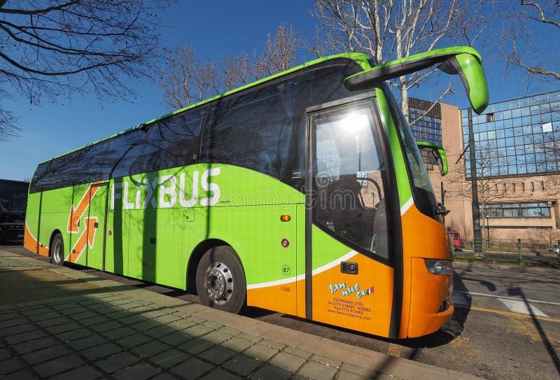 Flixbus trener w Turyn obrazy royalty free