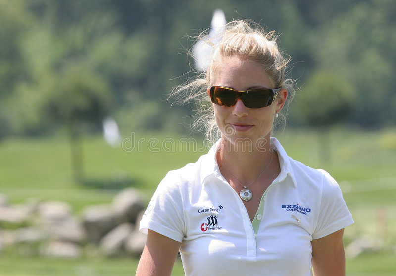 Flo Luscher, Suisse de golf s'ouvrent, Losone, 2007 photos stock
