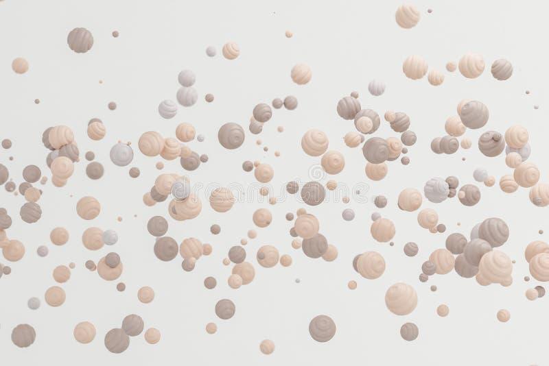 Floa moderno del objeto de la forma del fondo poner crema en colores pastel abstracto de la piel foto de archivo libre de regalías