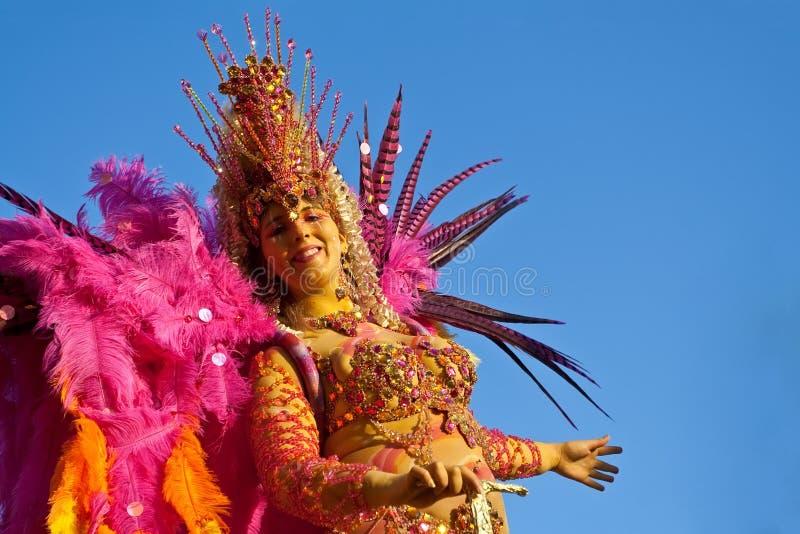 Float Car Samba dancer, one of the main characters royalty free stock photos