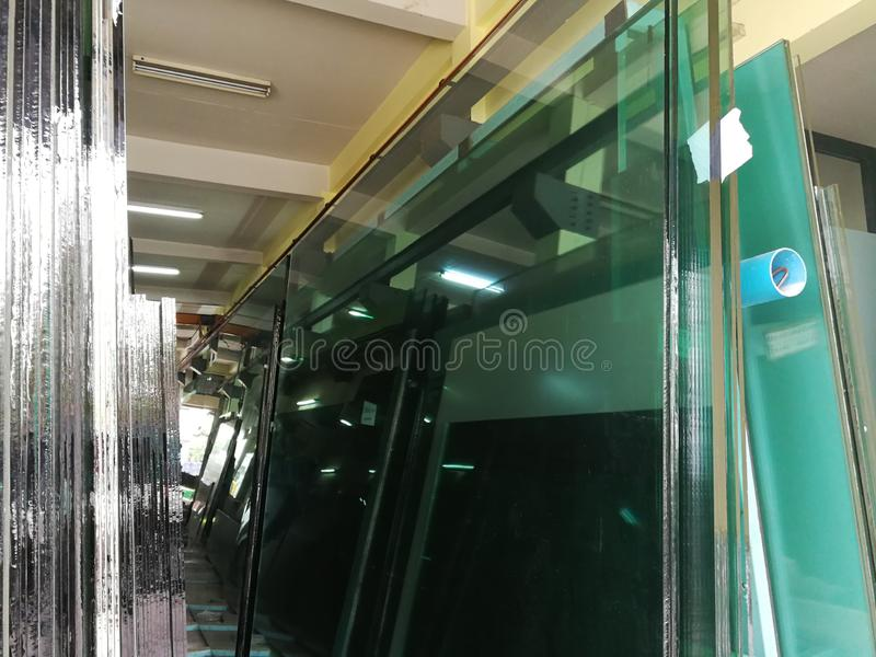 The float glass production plant royalty free stock photo