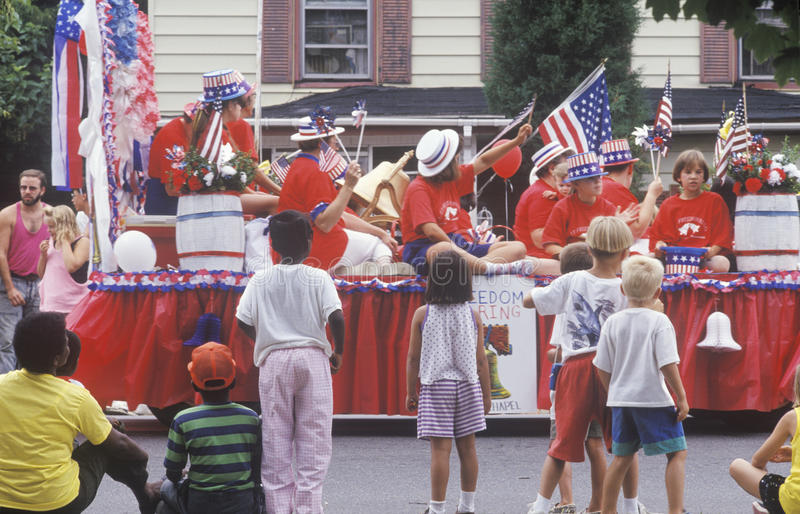 Float in July 4th Parade, Rock Hall, Maryland royalty free stock image