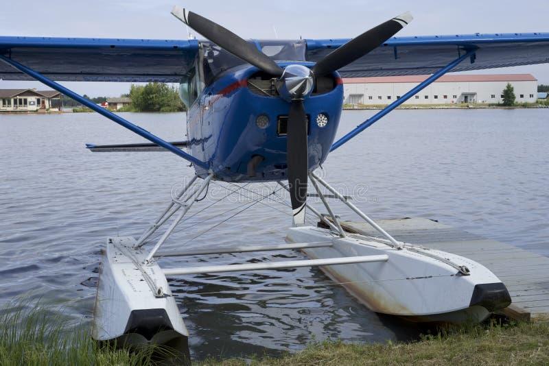 Float Plane Cessna 185 stock image