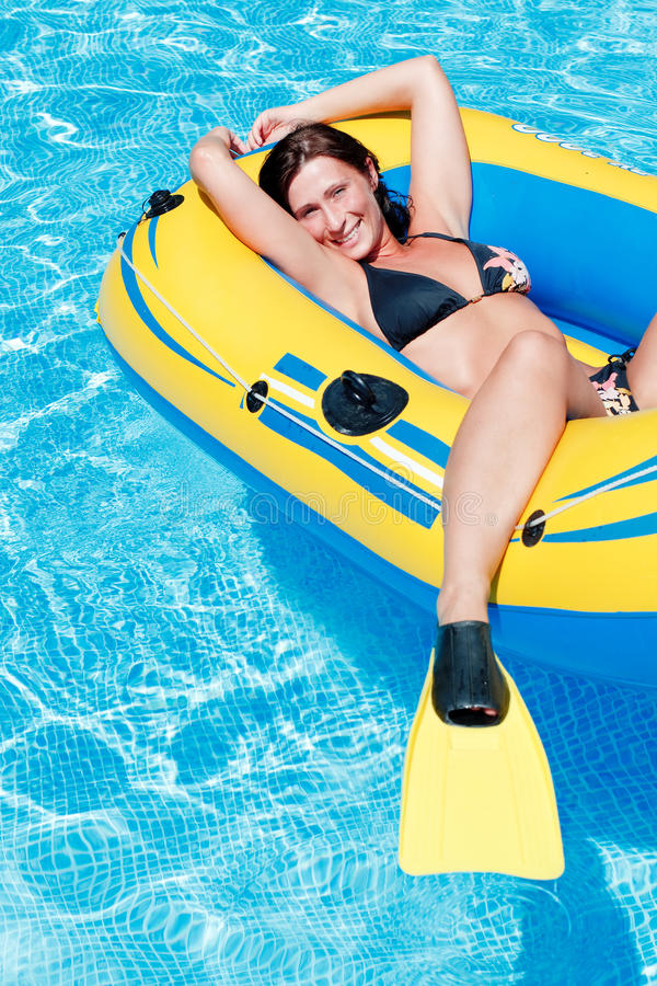 Float woman royalty free stock image