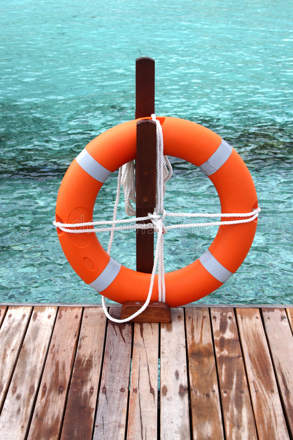 floatcirkelsäkerhet arkivbild