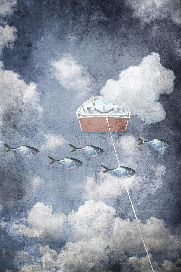 floating royalty-vrije illustratie