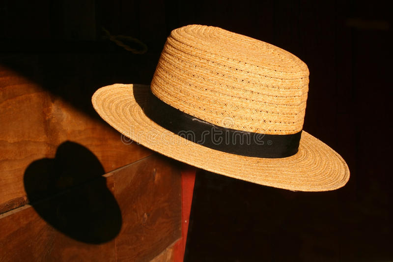 Floating Amish Hat stock photo