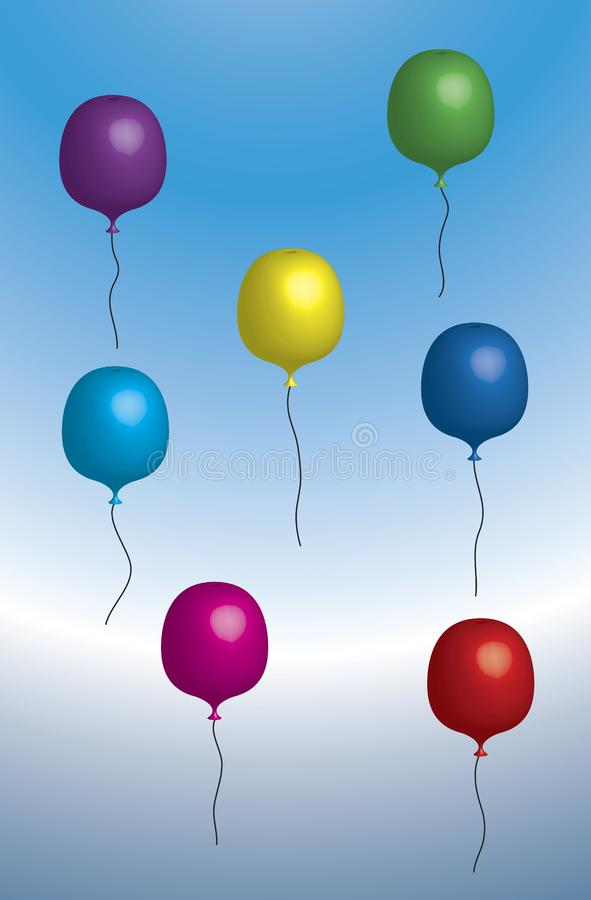 Floating balloons stock photography