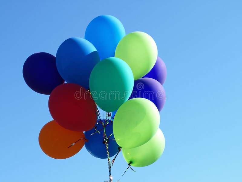 Floating Balloons royalty free stock photography