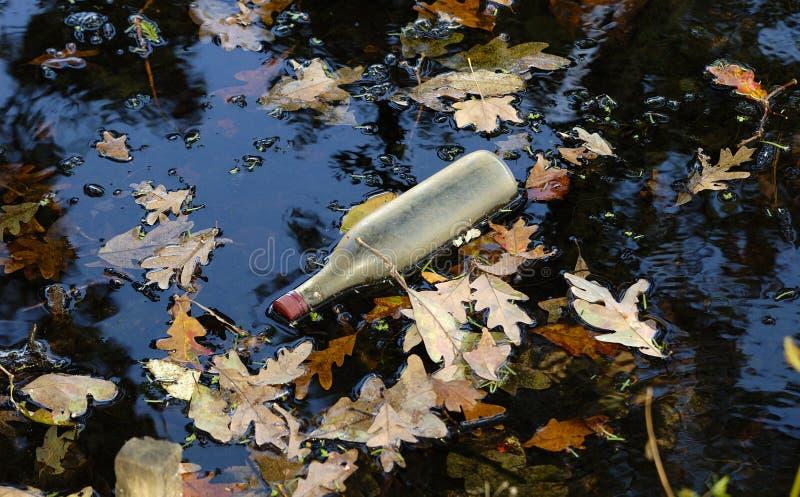 Floating Bottle stock photo