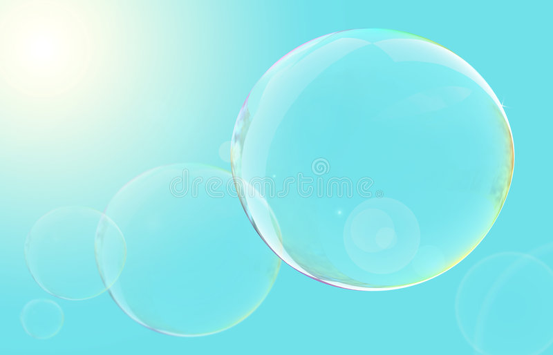Floating Bubbles stock illustration
