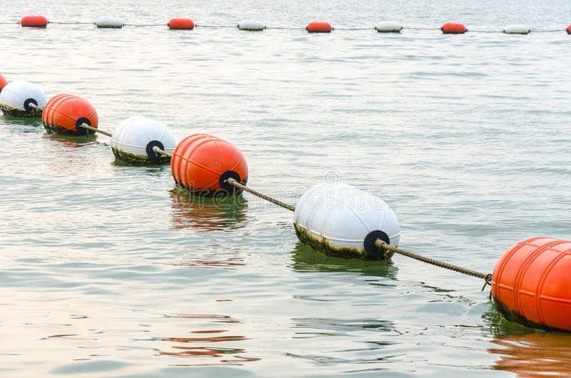 A floating buoy. stock photos
