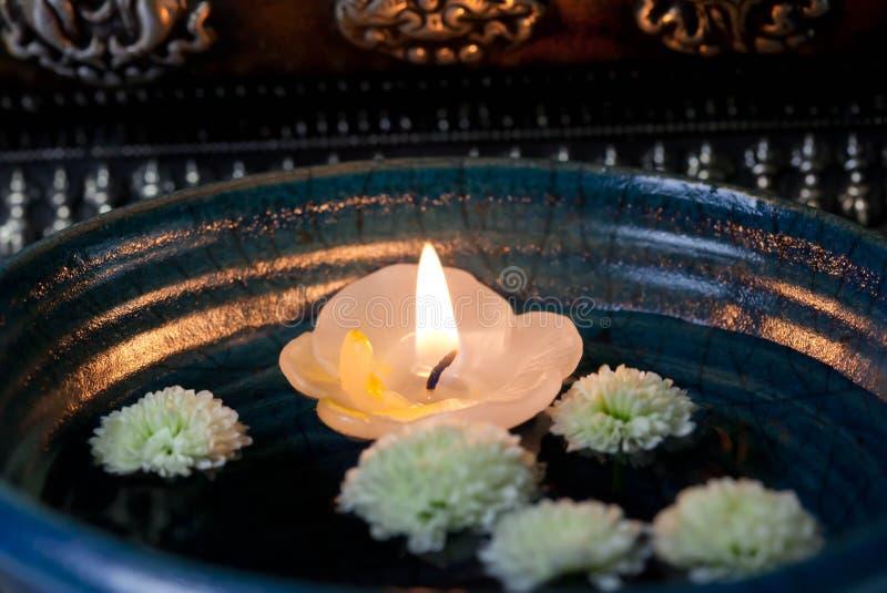 Floating candle Asia - Stock Photo stock image