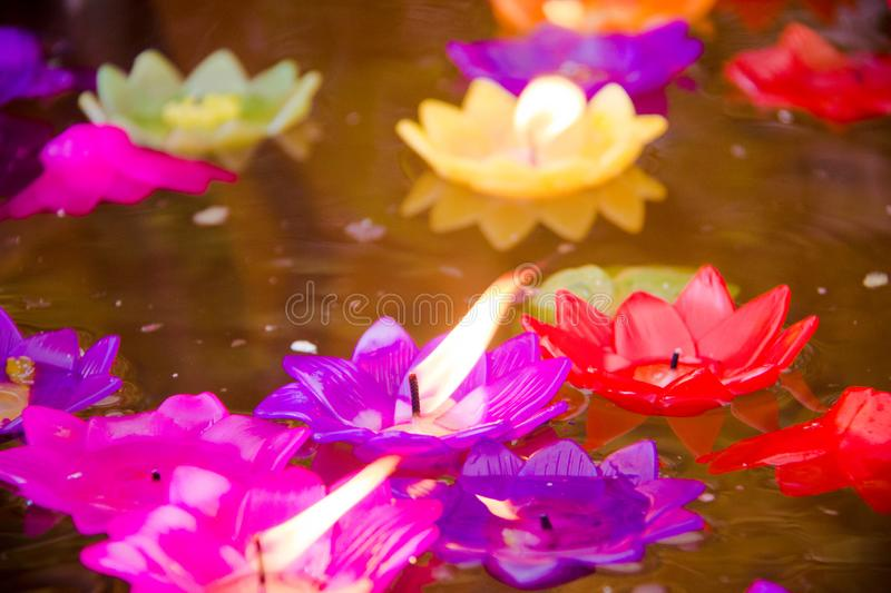 Floating candle stock images