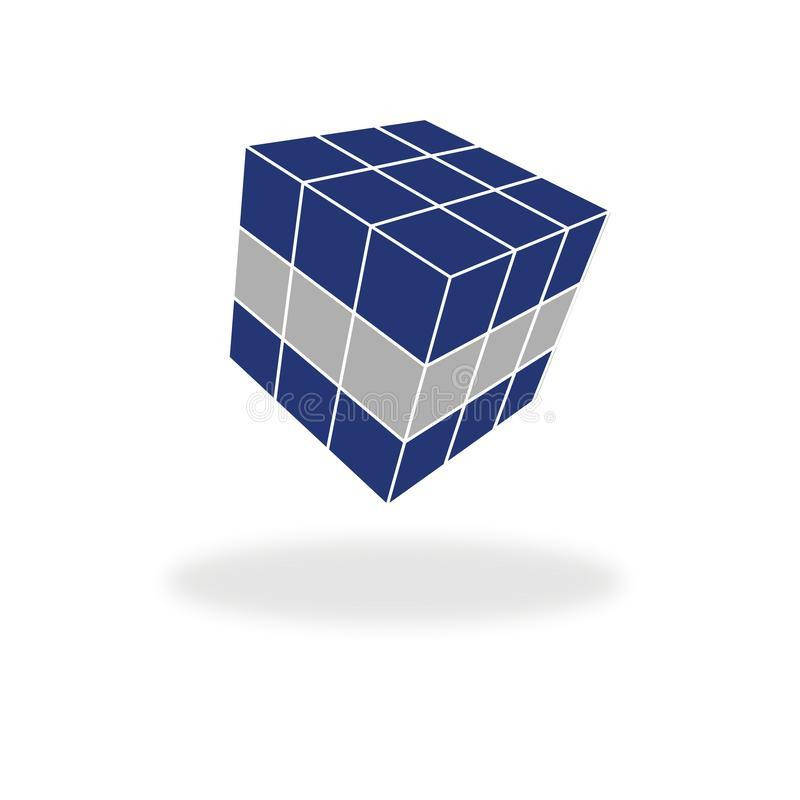 Floating cube solution stock illustration