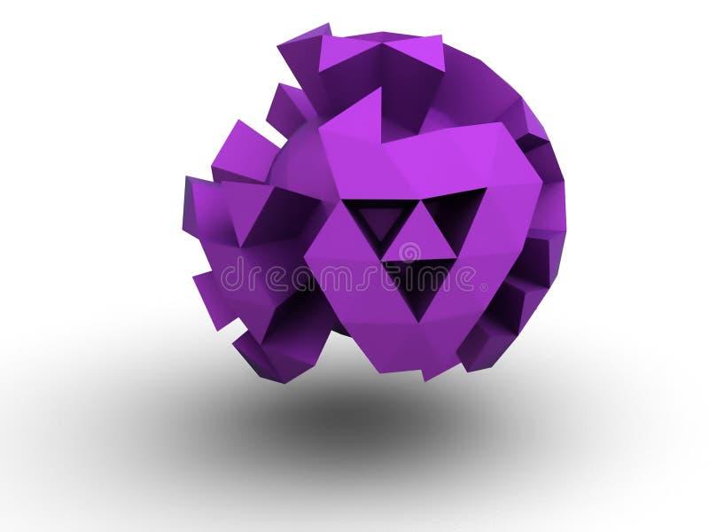 Download Floating distorted sphere stock illustration. Image of floating - 10546654
