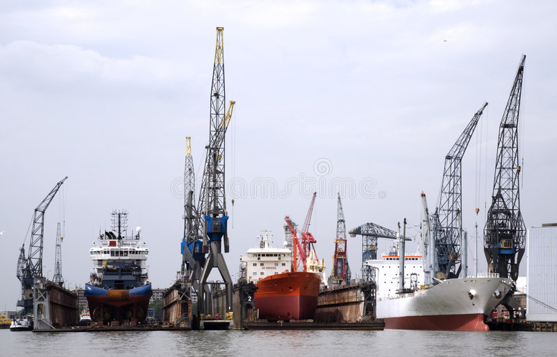 Download Floating dock stock photo. Image of boats, holland, cargo - 912940