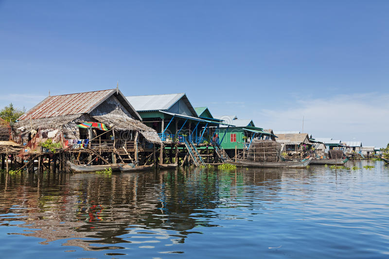 Download Floating fishing village stock photo. Image of water - 28085692